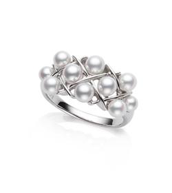真珠デザインリング