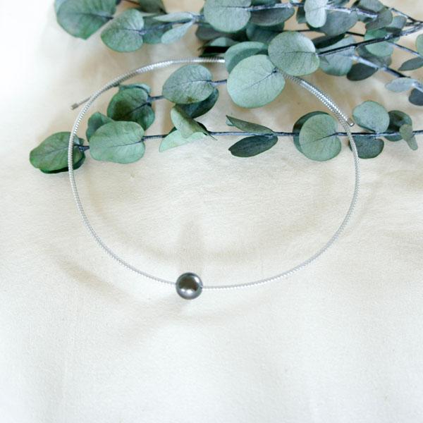 黒蝶真珠磁気ネックレス