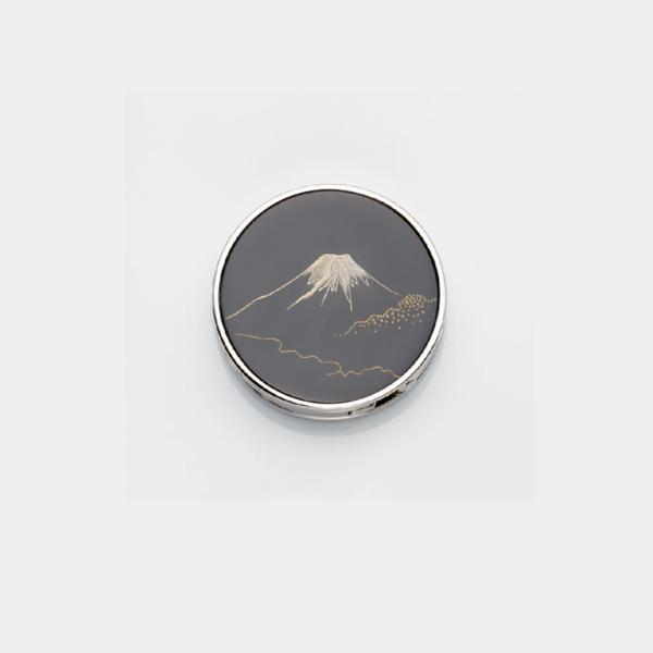 黒漆沈金 バックハンガー 富士山